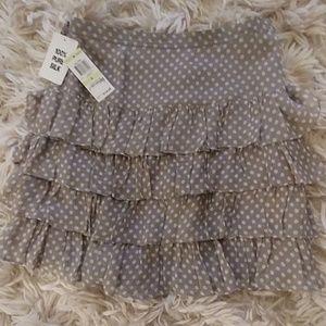 Fringe skirt - silk
